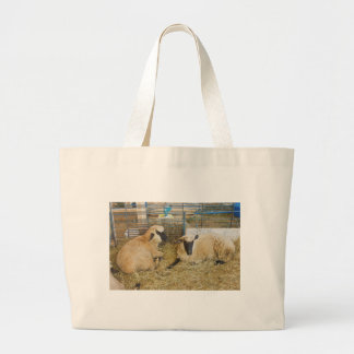 Two Black Faced Sheep In A Barn Tote Bag