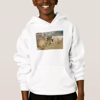 Two Black Faced Sheep In A Barn Hoodie