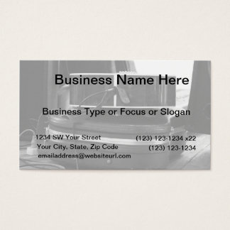 Two black guitar cases in bw business card