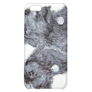 Two Black Labradoodles iPhone 5C Covers