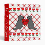 Two Black Labradors Cartoon Recipes 3 Ring Binders