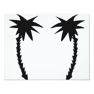 two black palms icon invitations