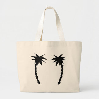 two black palms icon large tote bag