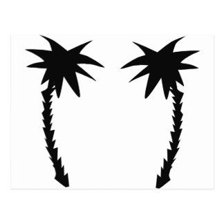 two black palms icon postcard