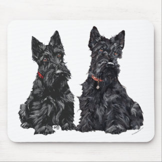 Two Black Scottish Terriers Mouse Pad