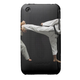 Two Blackbelts Sparring 2 iPhone 3 Case-Mate Cases