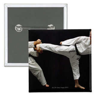 Two Blackbelts Sparring 2 Pinback Button