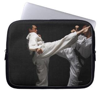 Two Blackbelts Sparring Laptop Sleeve