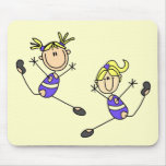 Two Blond Girl Gymnast Tshirts and Gifts Mouse Pads