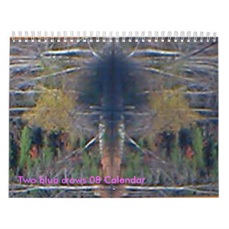 Two blue crows 08 Calendar