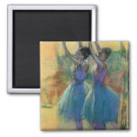 Two Blue Dancers 2 Inch Square Magnet