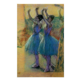 Two Blue Dancers Print