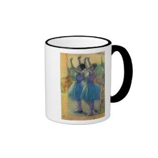 Two Blue Dancers Ringer Coffee Mug