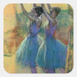 Two Blue Dancers Square Sticker