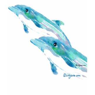 Two Blue Dolphins T-Shirt shirt