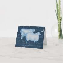 Two Blue Ewes Sheep Gift Enclosure Card Note Card
