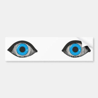 Two Blue Eyes Bumper Sticker