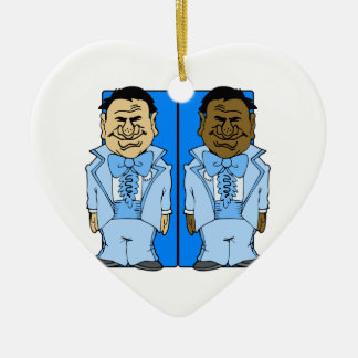 Two Blue Grooms Christmas Tree Ornament