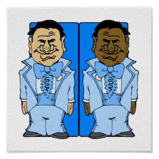 Two Blue Grooms Poster