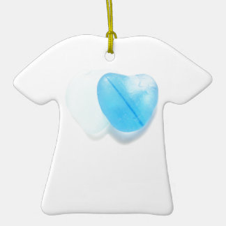 Two Blue Hearts Ornaments