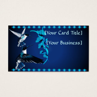 Two Blue Hummingbirds Business Card