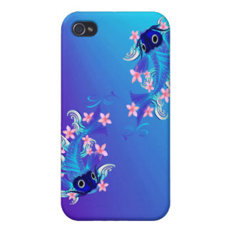 Two Blue Koi //  iPhone 4 Case