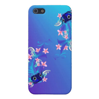 Two Blue Koi //  iPhone 5 Cases