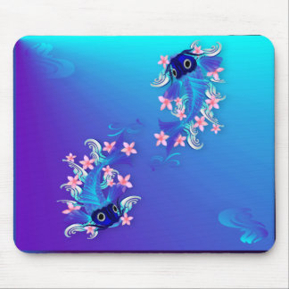 Two Blue Koi Mousepad