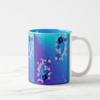 Two Blue Koi  Mugs