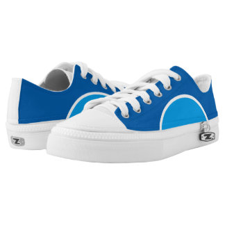 Two Blue Low Top Sneakers Printed Shoes