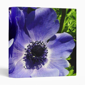 Two Blue Mauve Anemone - Close Up Windflowers Binder