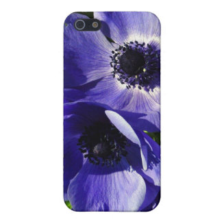 Two Blue Mauve Anemone - Close Up Windflowers Cover For iPhone SE/5/5s