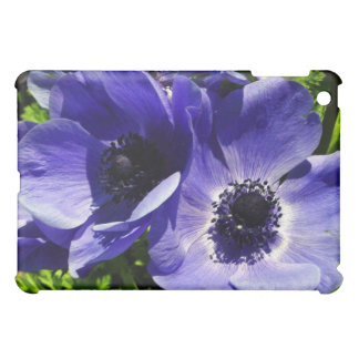 Two Blue Mauve Anemone - Close Up Windflowers Cover For The iPad Mini