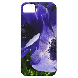 Two Blue Mauve Anemone - Close Up Windflowers iPhone SE/5/5s Case