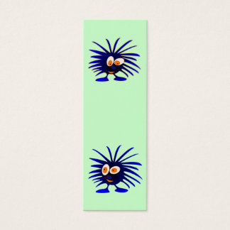 Two blue monsters bookmark mini business card