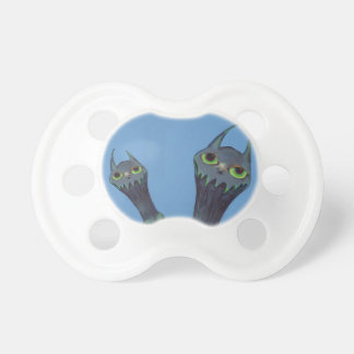 Two Blue Monsters Pacifier