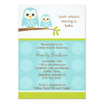 Two Blue Owls Baby Shower Invitations Personalized Announcement