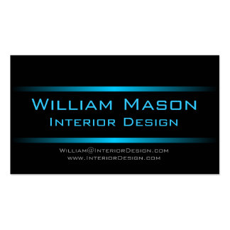 Two Blue Stripes Professional Business Card