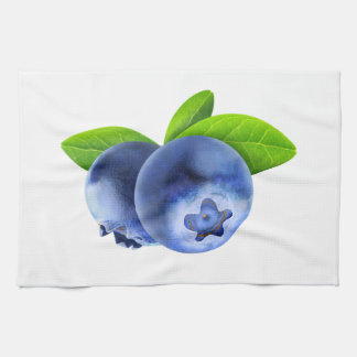 Two blueberries kitchen towel