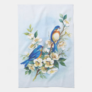 Two Bluebirds Hand Towels