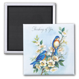Two Bluebirds Magnet