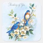 Two Bluebirds Sticker