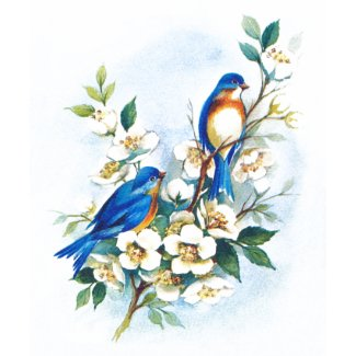 Two Bluebirds zazzle_shirt