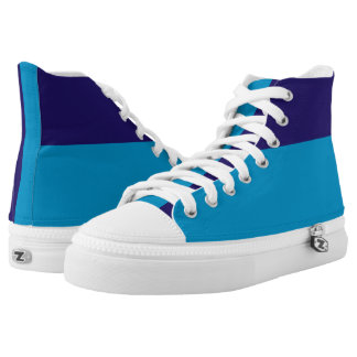 Two Blues Two-Tone Hi-Top