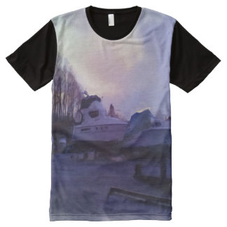 Two Boats All-Over-Print Shirt