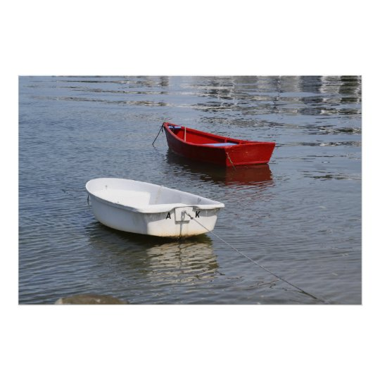 Two Boats of Different Colors Poster