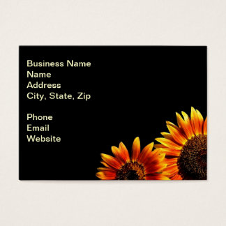 Two Bold Sunflowers Business Card