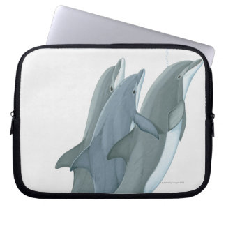 Two Bottlenosed Dolphins Computer Sleeve