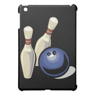 two bowling pins and bowling ball design iPad mini case