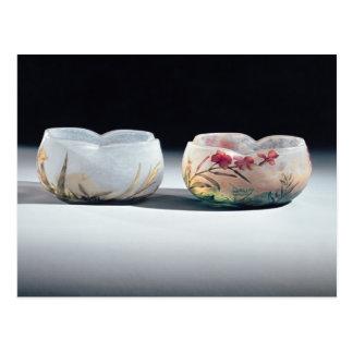 Two bowls by Daum, Nancy, France Postcard